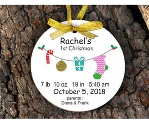 etsy, birth date, and hanging ornament image