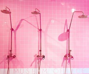 pink, shower, and showerhead image