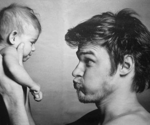 baby, dad, and pretty image