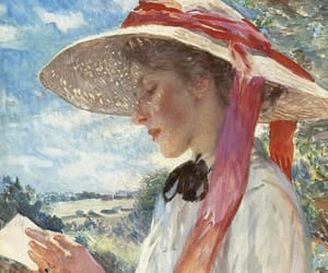 a girl reading and dame laura knight image