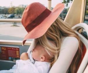 baby, mom, and woman image