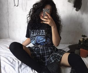 alternative, black, and plaid image