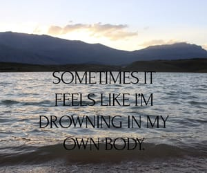 drowning, poem, and qoute image