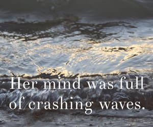 poem, qoute, and waves image