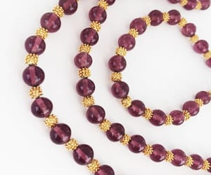 bead necklace, elegant, and simple image