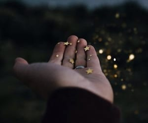 aesthetic, hand, and nature image