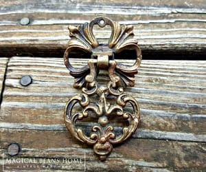 etsy, drawer pull handles, and vintage drawer pull image