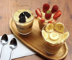 banana, cream, and dessert image