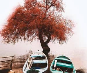 autumn, beach, and beauty image