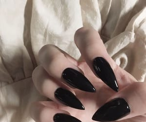 nails, black, and aesthetic image