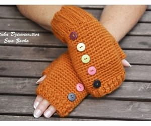 fingerless gloves, handmade gloves, and gloves image