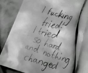 quotes, black and white, and sad image