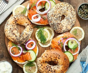 bagels, bistro, and cream cheese image