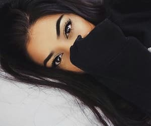 girl, eyes, and makeup image