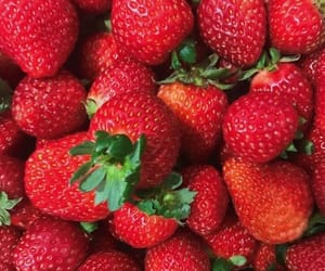 food, strawberries, and red image