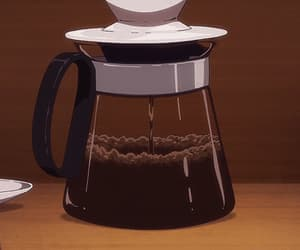 anime, black coffee, and coffee pot image