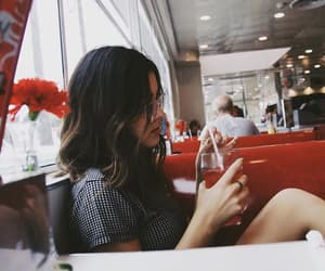 girl, aesthetic, and red image
