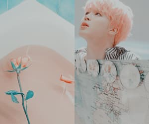 aesthetic, pink and blue, and park jimin image