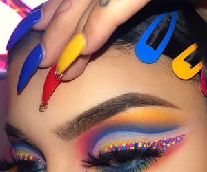 makeup, colors, and colorful image