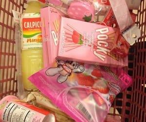 pocky, food, and pink image