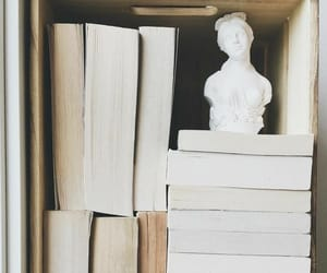 books and statue image