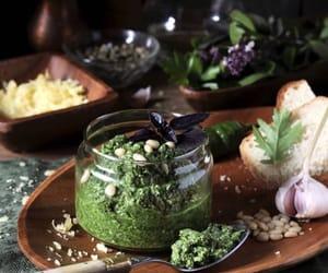 garlic, green, and herbs image