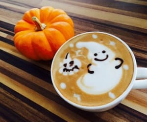 pumpkin, Halloween, and coffee image