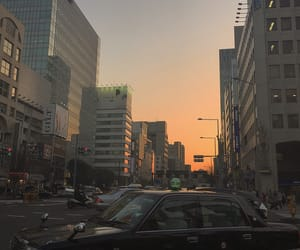 city, aesthetic, and sunset image