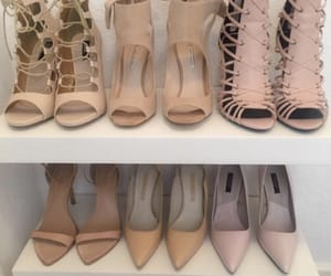 collection, lace heels, and fashion image