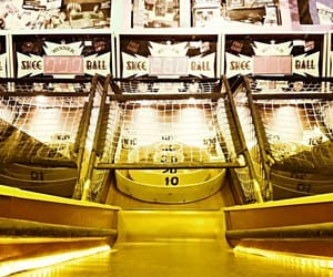 arcade, boardwalk, and retro image
