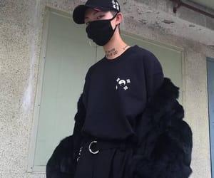 black, korean, and boy image