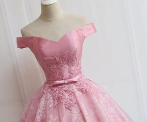 short prom dress, sleeveless prom dress, and homecoming dress pink image