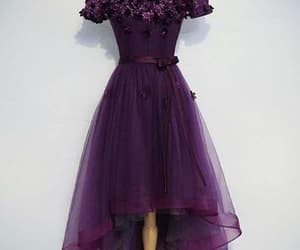 cute homecoming dresses, prom dress high low, and purple homecoming dresses image