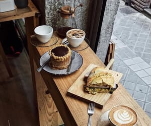 bakery, black coffee, and cafe image