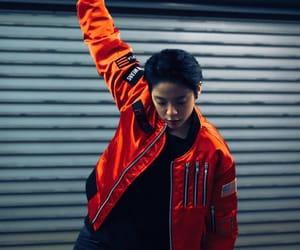 fashion, sport, and orange jacket image