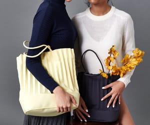 bag, fashion, and pleated bag image