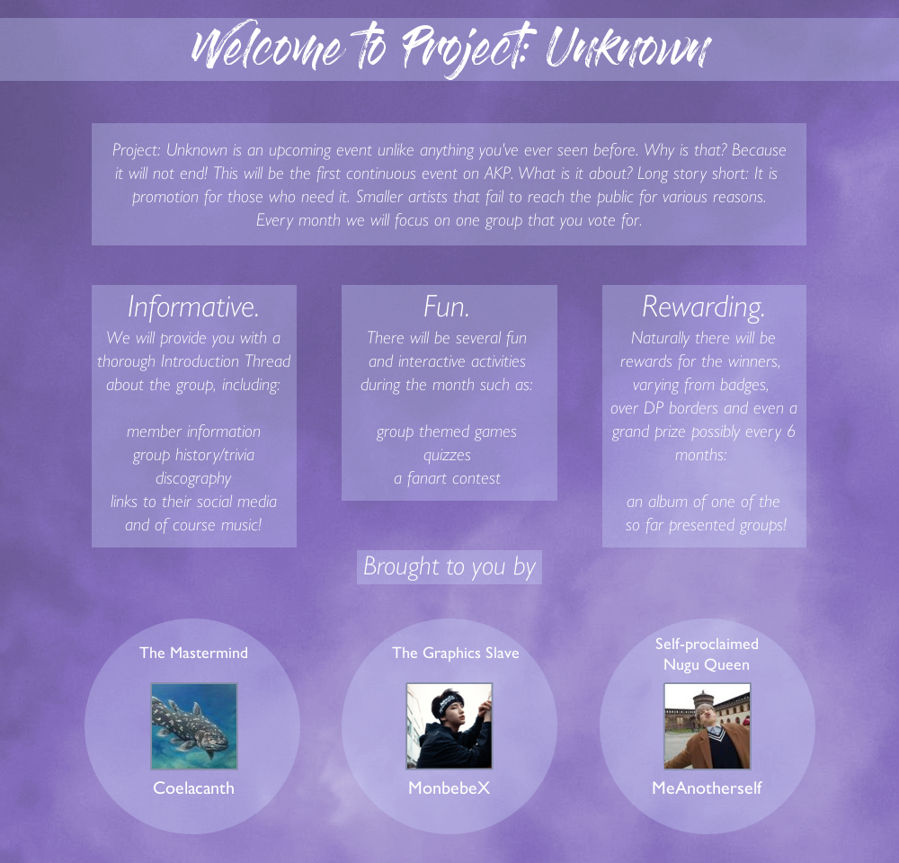 Introducing Project: Unknown! on We Heart It