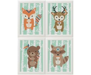 etsy, diy gift, and woodland animals image