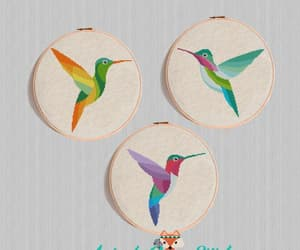 etsy, watercolor bird, and cross stitch pdf image