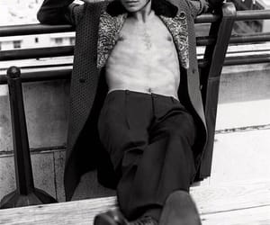 ezra miller and black and white image