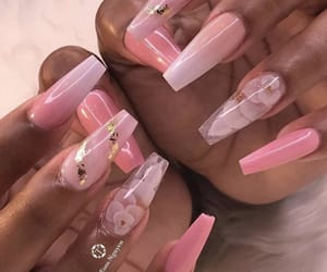 acrylics, nails, and flower nails image