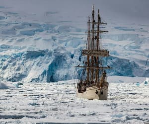 antarctica, ship, and ice image