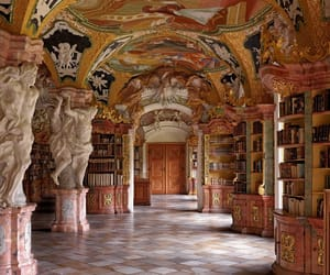 library, architecture, and art image