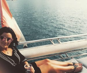 brunette, yacht, and Dubai image