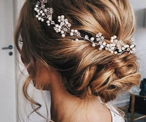 hair, wedding, and style image