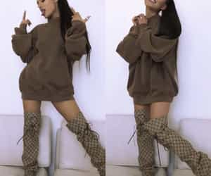 boots, brown, and oversized image