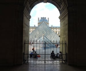 art, gate, and glass image