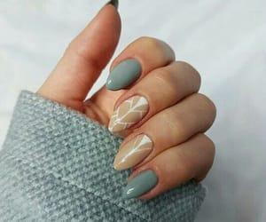blue, long, and nail art image
