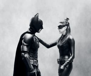 Anne Hathaway, batman, and christian bale image