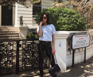 black jeans, chanel bag, and fashion image